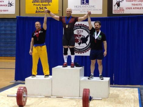 Congrats to James Aftomis.  69kg Masters National Champion
